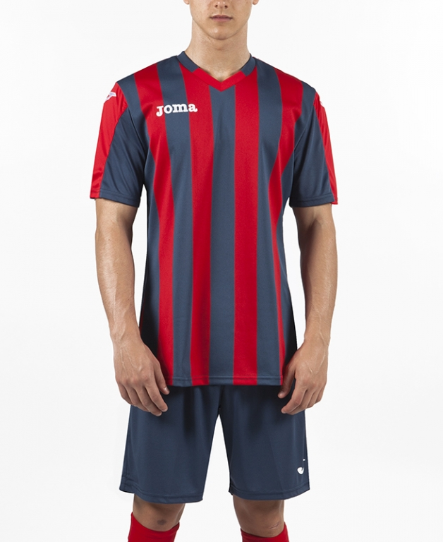 JOMA T-SHIRT COPA RED-NAVY S/S